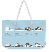 My Evolution Sneaker Minimal Poster Weekender Tote Bag by Chungkong Art