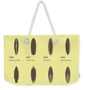 My Evolution Surfboards Minimal Poster Weekender Tote Bag by Chungkong Art