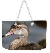 My Feather Friend - Wood Duck Weekender Tote Bag