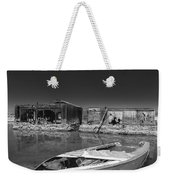 My Front Yard Black And White Weekender Tote Bag