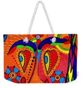 My Funny Little Clown Face - Color Love Weekender Tote Bag