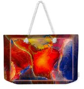 My Heart On My Sleeve An Abstract Painting Weekender Tote Bag