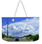 My House Over The Hill Under The Clouds Weekender Tote Bag