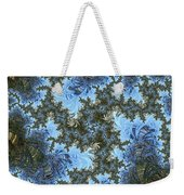 My Maui Fractal Art Abstract Palms And Blue Sky And Waters Weekender Tote Bag