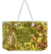 My New Year's Resolution Is . . . Poem And Image Weekender Tote Bag