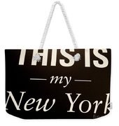 My New York Weekender Tote Bag