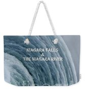 My Niagara Falls And Niagara River Book Weekender Tote Bag