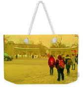My Old Alma Mater Mcgill University Golden Olden Days Montreal Memories City Scenes Carole Spandau Weekender Tote Bag
