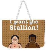My Rocky Lego Dialogue Poster Weekender Tote Bag