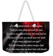 My Sweet Wonder Poetry Art Weekender Tote Bag by Stanley Mathis