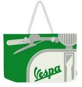 My Vespa - From Italy With Love - Green Weekender Tote Bag