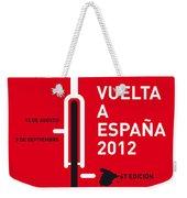 My Vuelta A Espana Minimal Poster Weekender Tote Bag by Chungkong Art