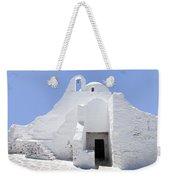 Mykonian Church Weekender Tote Bag