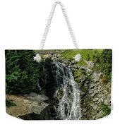 Myrtle Falls In Front Of Mt. Rainier Weekender Tote Bag