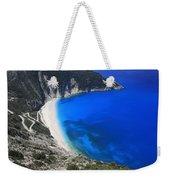 Myrtos Beach Kefalonia Greece  Weekender Tote Bag