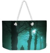 Mysterious Man In A Foggy Forest Weekender Tote Bag