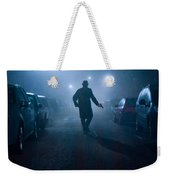Mysterious Man With Pistol At Night In Fog Weekender Tote Bag