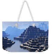Mysterious Terraced Mountains Weekender Tote Bag