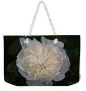 Mysterious White Peony Abstract Painting Weekender Tote Bag