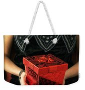 Mysterious Woman With Red Box Weekender Tote Bag
