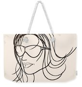 Mystery Woman Weekender Tote Bag
