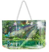 Mystic Foggy Forest Weekender Tote Bag by Alixandra Mullins