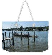 Mystic Seaport Changing Slips Weekender Tote Bag