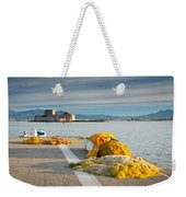 Nafplio Fishing Harbour Weekender Tote Bag