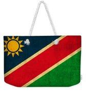 Namibia Flag Vintage Distressed Finish Weekender Tote Bag