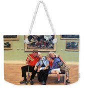 Nap Time At The Louvre Weekender Tote Bag by Tom Roderick