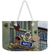 Naples Pizzeria Signage Downtown Disneyland Weekender Tote Bag