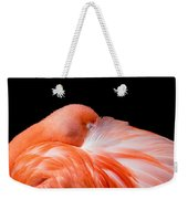 Napping Flamingo Weekender Tote Bag