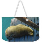 Napping Sea Lion Weekender Tote Bag