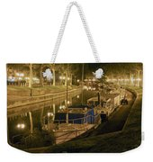 Narbonne France Canal De La Robine At Night Dsc01657  Weekender Tote Bag