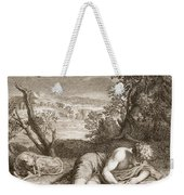 Narcissus Transformed Into A Flower Weekender Tote Bag