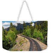 Narrow Gauge Tracks In Silver Country Weekender Tote Bag