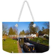Narrowboat In Lock Weekender Tote Bag