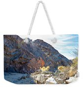 Narrowing Of Trail In Big Painted Canyon Trail In Mecca Hills-ca Weekender Tote Bag