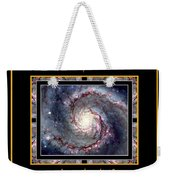 Nasa Whirlpool Galaxy Heaven Bless The Lord Praise And Exalt Him Above All Forever Weekender Tote Bag by Rose Santuci-Sofranko