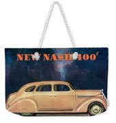 Nash 400 - Vintage Car Poster Weekender Tote Bag