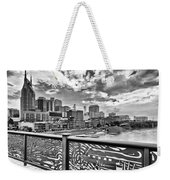 Nashville From The Shelby Bridge Weekender Tote Bag