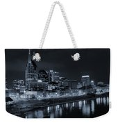 Nashville Skyline At Night Weekender Tote Bag