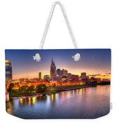 Nashville Skyline Weekender Tote Bag by Brett Engle