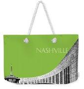 Nashville Skyline Country Music Hall Of Fame - Olive Weekender Tote Bag