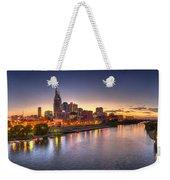 Nashville Skyline Panorama Weekender Tote Bag