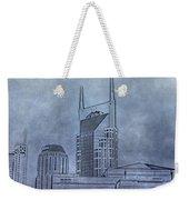 Nashville Skyline Sketch Weekender Tote Bag
