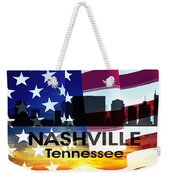 Nashville Tn Patriotic Large Cityscape Weekender Tote Bag by Angelina Vick