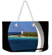 Nassau Lighthouse Porthole View Weekender Tote Bag