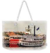 Natchez Sternwheeler Paint Weekender Tote Bag