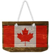 Canada National Flag On Wood Weekender Tote Bag